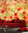 Monet's poppys wallpaper murals by Homewallmurals